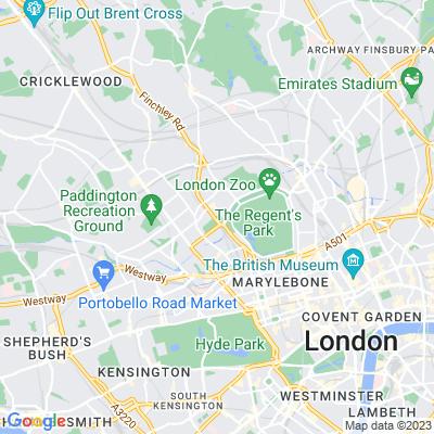 St John's Wood Church Grounds Location