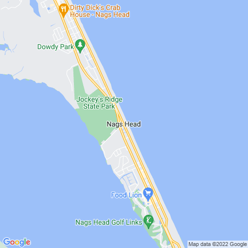 Map of Nags Head, NC