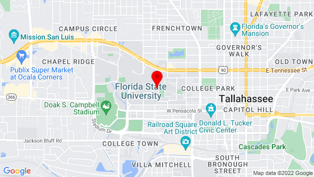 Google Map of Nancy Smith Fichter Dance Theatre/Montgomery Hall at FSU Campus, Tallahassee, FL 32304