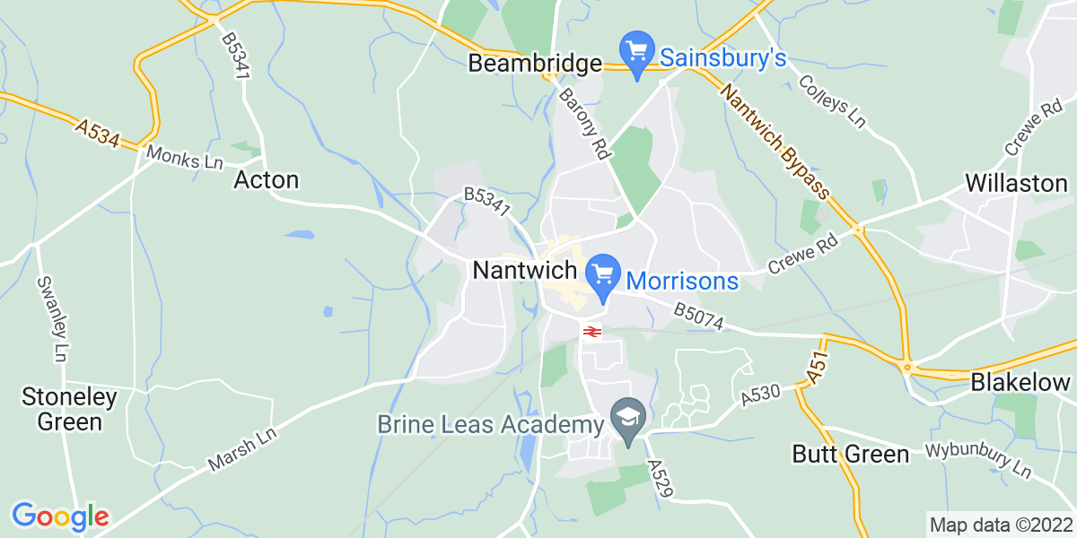 Map: Security Officer role in Nantwich