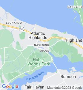 Navesink NJ Map