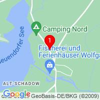 Google Map of Neuendorfer Straße 2 OT Alt - Schadow 15913 Märkische Heide