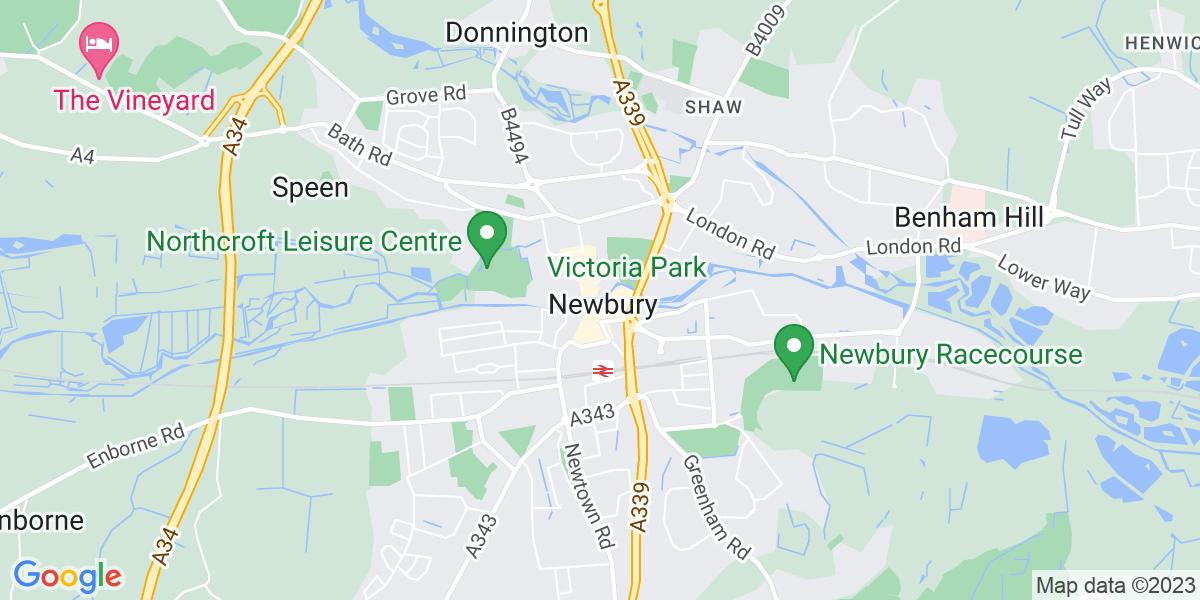 Map: Telesales job role in Newbury