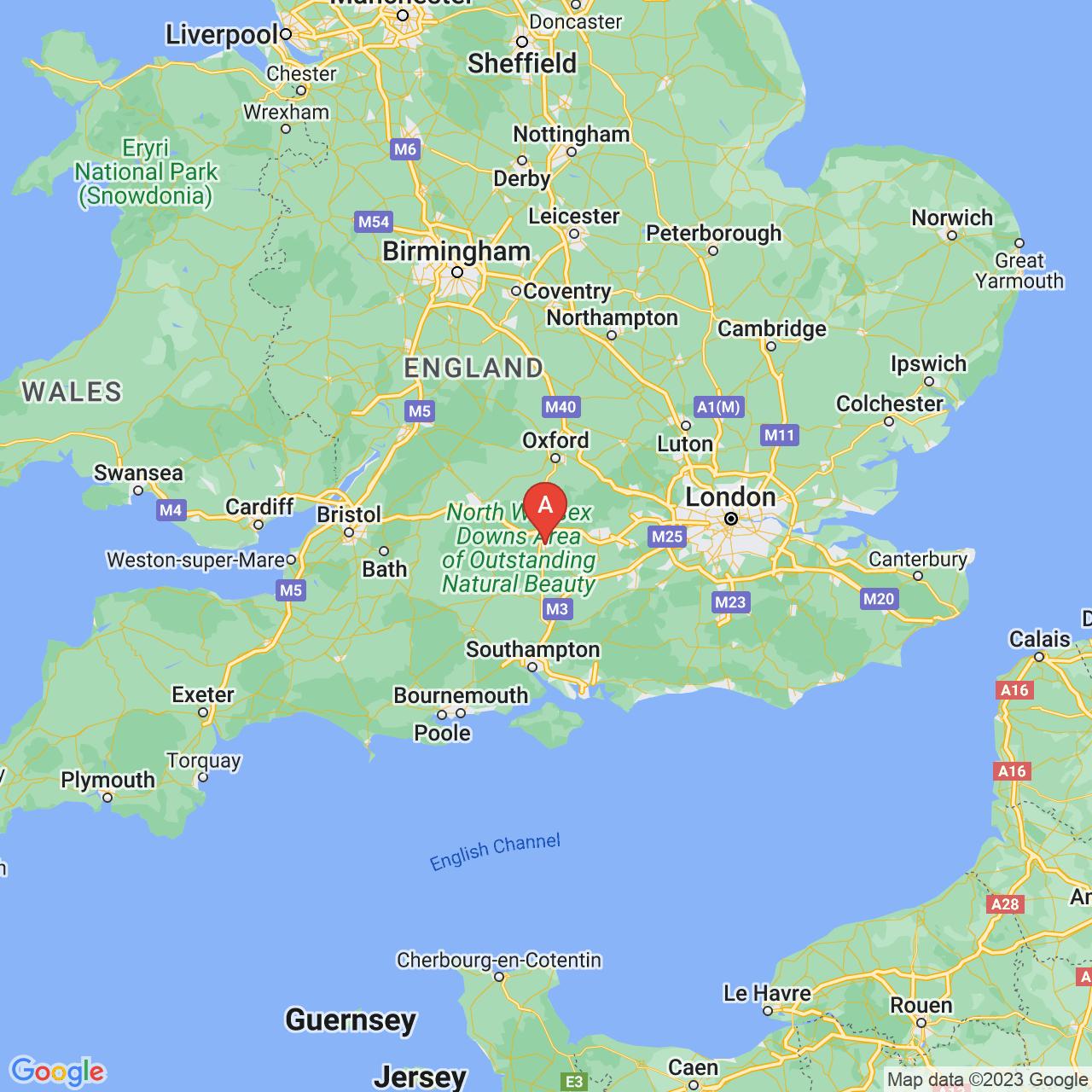 Newbury, England Map