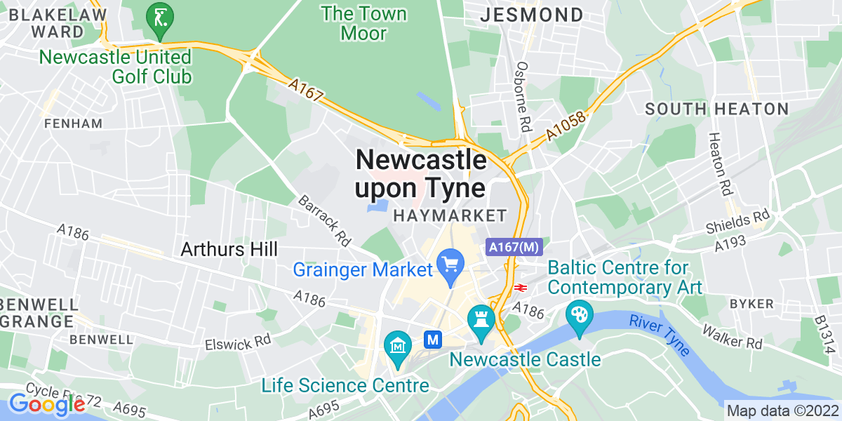 Map: Project Manager - New Business, Pensions job role in Newcastle Upon Tyne