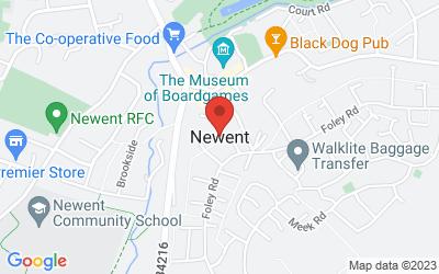 Map of Newent, Gloucestershire, UK