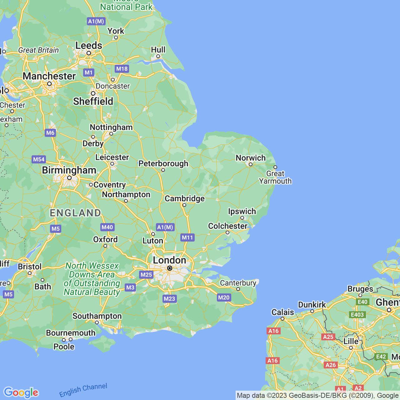 Newmarket, England Map