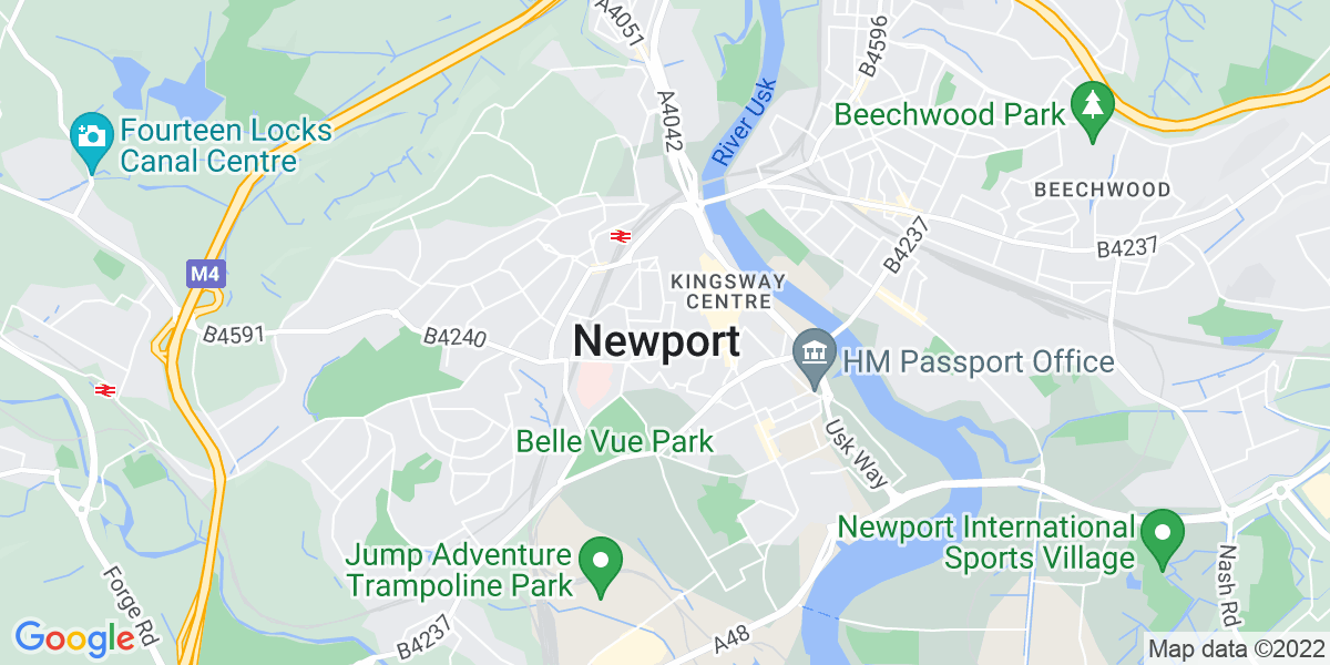 Map: Teaching Assistant job in Newport
