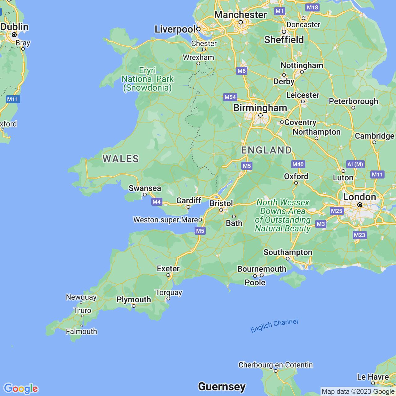 Newport, Wales Map