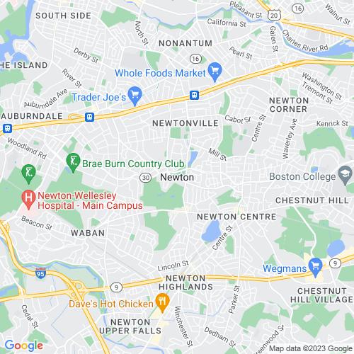 Map of Newton, MA
