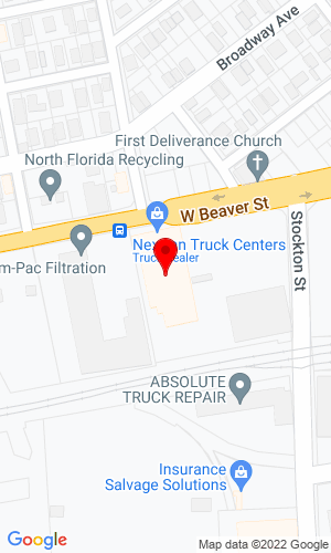 Google Map of Nextran Truck Center 1986 W Beaver Street, Jacksonville, FL, 32209