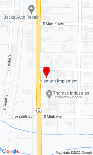 Google Map of Niemuth Implement Co, Inc 306 South Hwy 13, Stetsonville, WI, 54480-0040