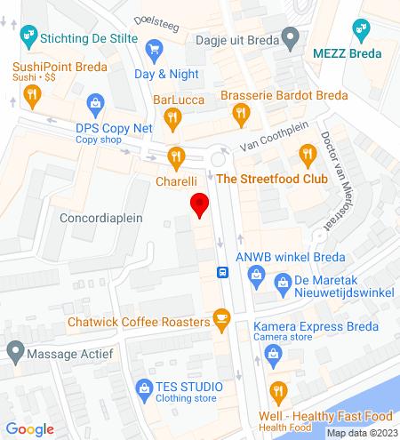 Google Map of Nieuwe Ginnekenstraat 10 4811 NR Breda
