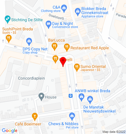 Google Map of Nieuwe Ginnekenstraat 2 4811 NR Breda