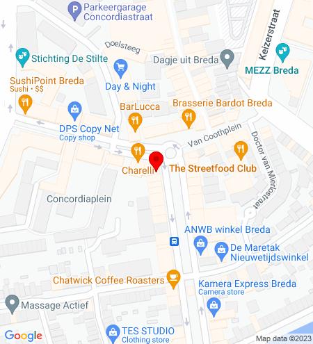 Google Map of Nieuwe Ginnekenstraat 2 4811 NR Breda