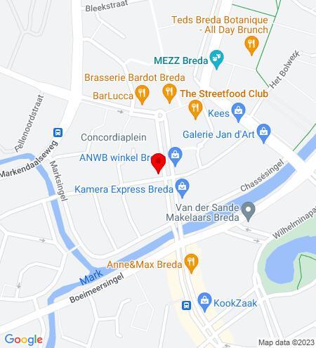 Google Map of Nieuwe Ginnekenstraat 20C 4811 NR Breda