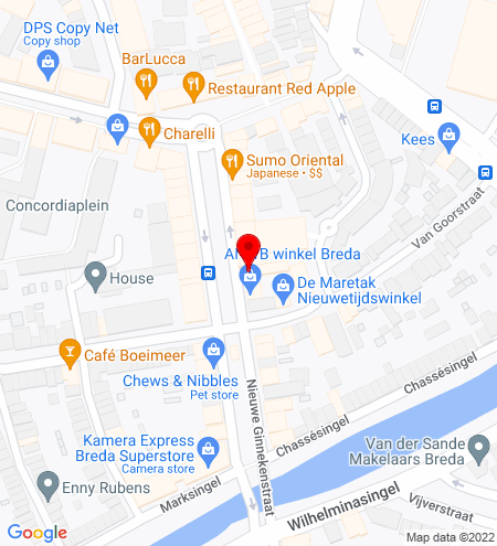 Google Map of Nieuwe Ginnekenstraat 23, 4811 NM Breda