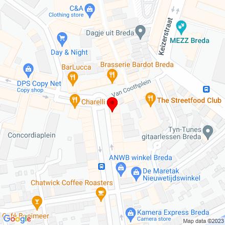 Google Map of Nieuwe Ginnekenstraat 3 4811 NM Breda