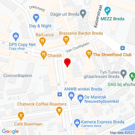 Google Map of Nieuwe Ginnekenstraat 7 4811 NM Breda