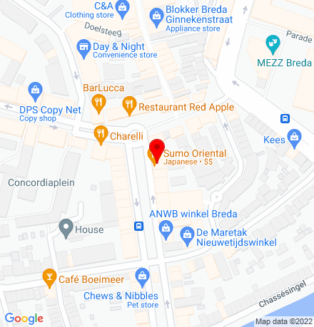 Google Map of Nieuwe Ginnekenstraat 7 4811 NM Breda