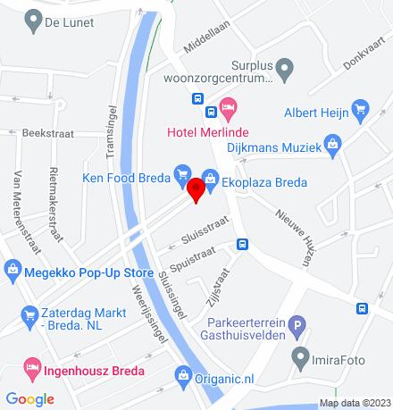Google Map of Nieuwe Haagdijk 17 4811 TB Breda