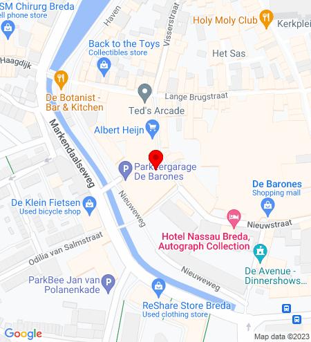 Google Map of Nieuwstraat 33 4811 WV Breda