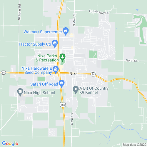 Map of Nixa, MO