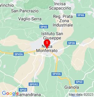 Google Map of Nizza Monferrato, , Italy