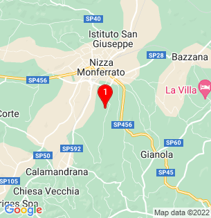 Google Map of Nizza Monferrato, Piedmont, Italy