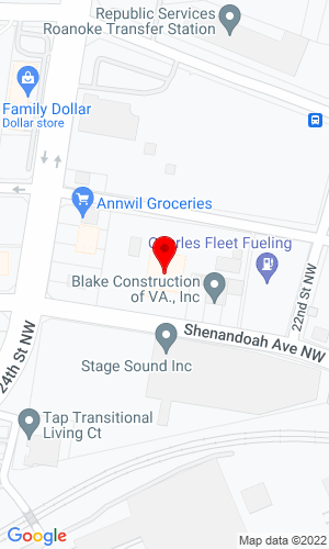 Google Map of Noland Company Drilling Equipment 2227 Shenandoah Avenue NW, Roanoke, VA, 24017