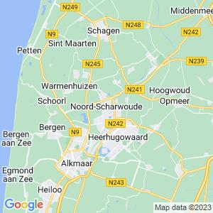 Werkgebied van onze bestrijder in Noord-Scharwoude