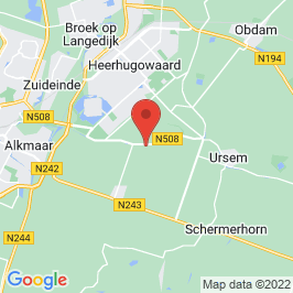 Google map of Zorgboerderij De Hulst, Oterleek
