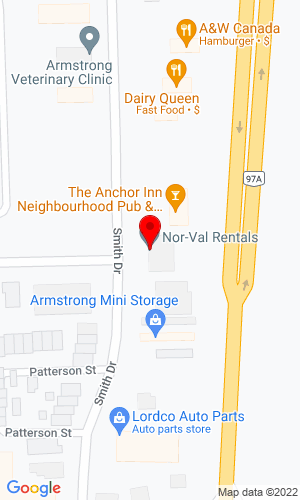 Google Map of Nor-Val Rentals, Ltd 3004 Smith Drive , Armstrong, BC, V0E 1B1