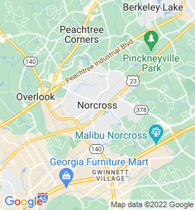 Norcross GA Map