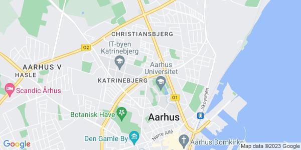 Et kort over Aarhus Universitet - AU