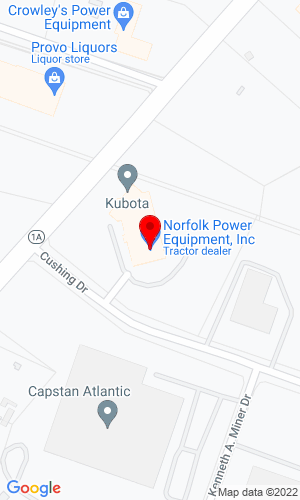 Google Map of Norfolk Power Equipment 5 Cushing Drive, Route 1 A, Wrentham, MA, 02093