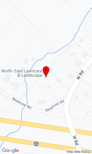 Google Map of North East Services 543 West Road, Westfield, MA, 01085