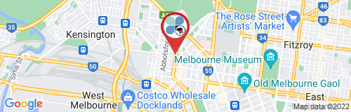 North Melbourne google map