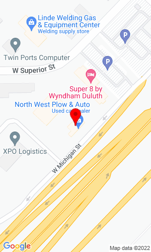 Google Map of North West Plow & Auto Co. 316 A Garfield Avenue, Duluth, MN, 558806