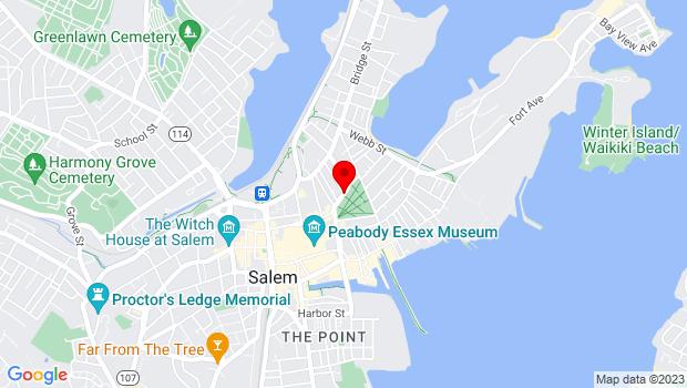 Google Map of North Washington Sq., Salem, MA 01970