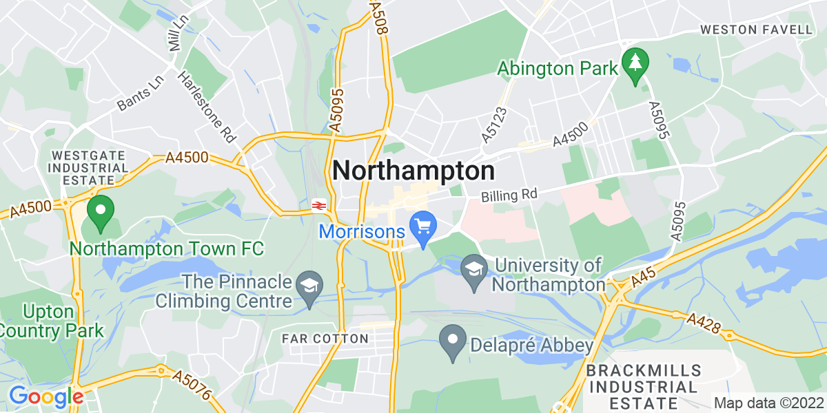 Map: Marketing and Business Development Executive job role in Northampton