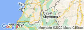Qiryat Shemona map