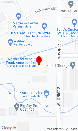 Google Map of Northland Automotive 1106 S 265th Street W, Billings, MT, 59102