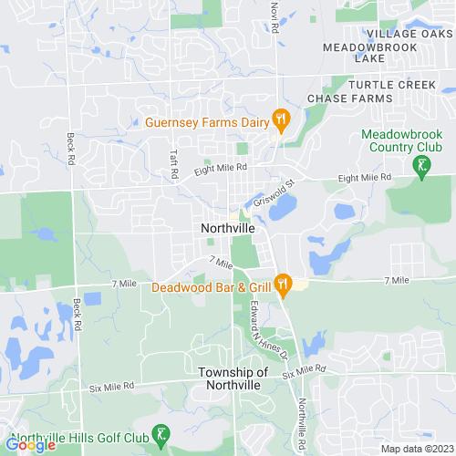 Map of Northville, MI