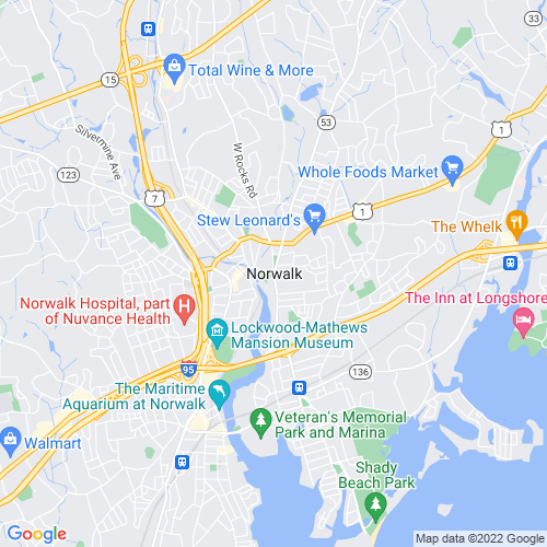 Map of Norwalk, CT
