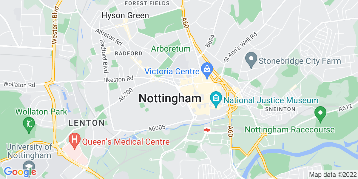 Map: Geotechnical Engineer -  role in Nottingham