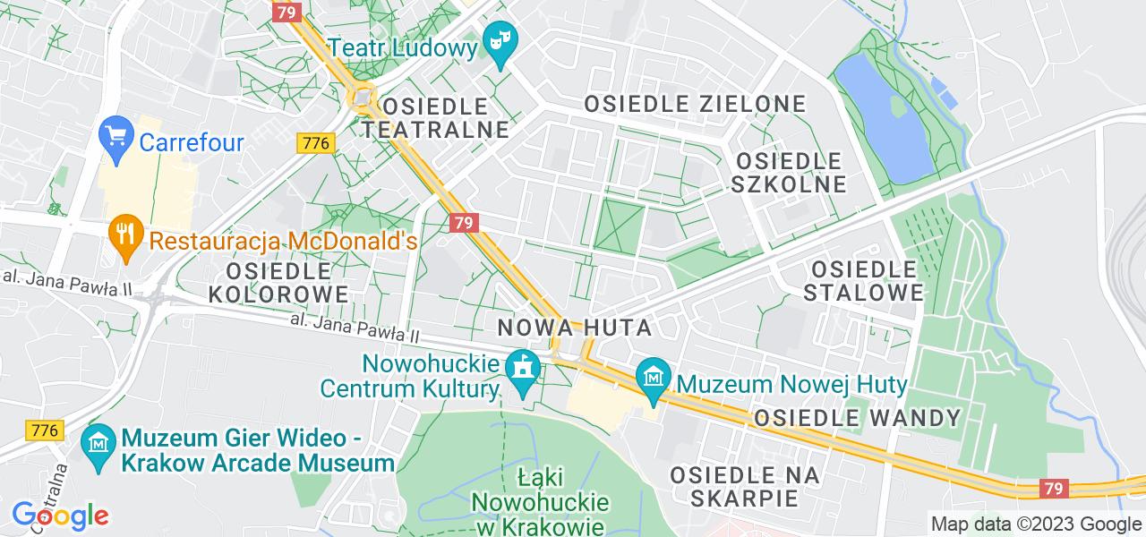 Osiedle Nowa Huta - Osiedle Centrum C w Krakowie – w tych punktach ekspresowo wyślesz turbinę do autoryzowanego serwisu