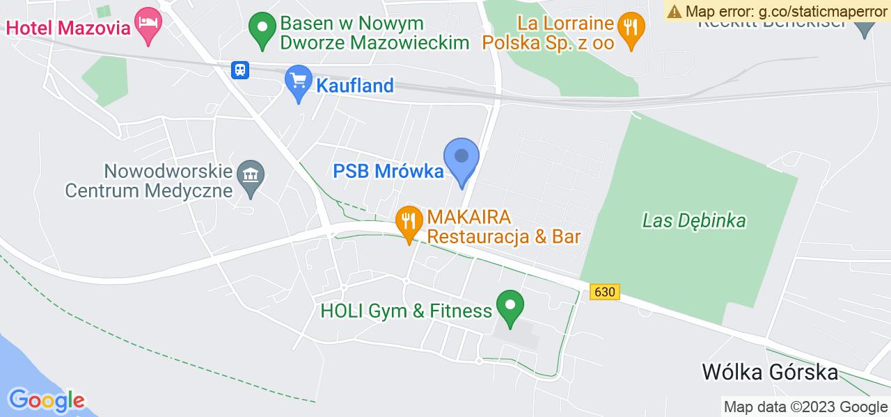 Jedna z ulic w Nowym Dworze Mazowieckim – Cicha i mapa dostępnych punktów wysyłki uszkodzonej turbiny do autoryzowanego serwisu regeneracji