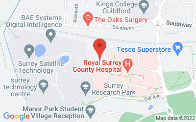 Map of Nuffield Health Guildford Hospital