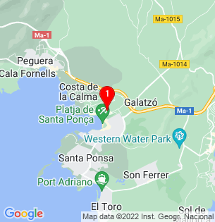 Google Map of Nuno Sanz, Calvia, BALEARES, Spain